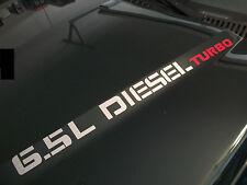(2) 6.5L TURBO DIESEL Hood Decals Stickers Chevy Silverado GMC Sierra 2500 3500