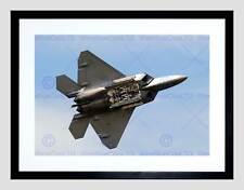 MILITARY AIR PLANE FIGHTER JET F22 RAPTOR WEAPON BAY FRAMED ART PRINT B12X3560