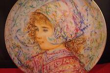 "Edna Hibel Rosenthal Plate ""Baronesse Johanna-Maryke Van Vollendam""[A1]"