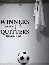 Lo SPORT vincitori... Calcio Cameretta per Bambini Muro Citazione Vinile Art Adesivo Cool Graphic