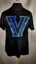 Women's Villanova Wildcats  spangle t shirt faux rhinestone lots of sparkle