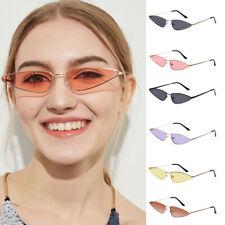 Men Women Cat Eye Retro Mini Frame Sunglasses Vintage Fashion Designer UV400