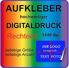 Aufkleber RECHTECK Panorama mit Ihrem Bild Logo MATT Permanent