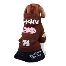 D&D Pull pour chien avec Capuche Brun manteau hundebekleidung