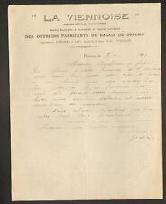 """POITIERS (86) ASSOCIATION OUVRIERE FABRICANTS de BALAIS """"LA VIENNOISE"""" en 1915"""