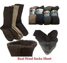 Wool Sock Hot Short Mens Winter Warm Rich Wool Top Quality Hiking Boot Sock 6-11