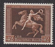 Nazi Germany MNH Michel 671 Scott B119 Braune Band H gum  B