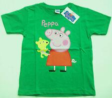 T-SHIRT PEPPA PIG ORIGINALE bambino bambina VERDE MAGLIA