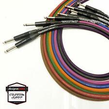 'designacable Custom Shop' Premium Braided Guitar Cable, Van Damme & Neutrik.