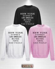 Sweatshirt Liste Stadt' Personalisierte T-Shirt Stadt Besuchen Sie Reisen