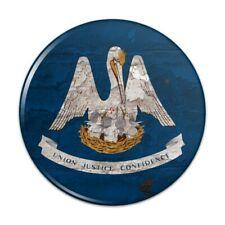 Rustic Louisiana State Flag Distressed USA Pinback Button Pin Badge