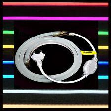 230V LED Neon Stripe - Leuchtstreifen Flex - RGB Weiß Pink Rot Blau gelb Schuko