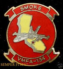 VMFA-134 SMOKE F-18 HORNET RESERVES US MARINES HAT PIN