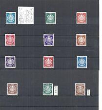 DDR 1954, Michenrn. Dienst A aus 1 - 27, Einzelmarken, postfrisch **/o, u.a. BPP