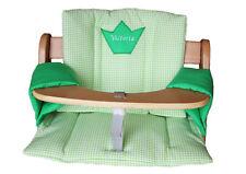 4tlg Coussin d'assise vert clair à carreaux pour Alpha/Hauck Escalier chaise haute