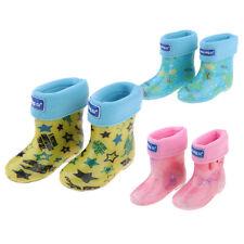 WELLIES RAIN KIDS WELLINGTON WATERPROOF SNOW BOOTS WARM LINING SOCKS CHILDREN