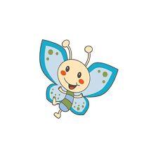 Adesivo bambino Farfalla blu ref 3504