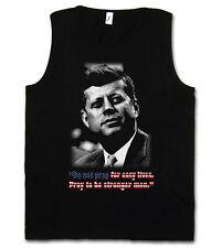 JFK PRAY FOR EASY LIVES TANK TOP T-SHIRT - John USA Liberty F President Kennedy