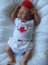 Baby Girl Sesame Street Cotton Singlet Elmo Summer 2 Piece Outfit Set