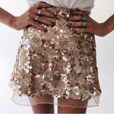New Year High Waist Party Glitter Mini Skirt Bodycon Gold Silver Sequin Skirt
