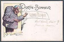 PORTE BONHEUR - GOBBA GOBBO Cartolina AUGURALE primi '900