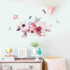 Dragonfly Flower Wall Decal Home Nursery Decor Girls Sticker Kids Room Art Mural