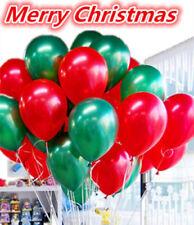 METALIZADO látex Navidad Globos de helio + aire o Baloon Santa Muñeco nieve