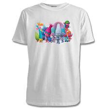 DreamWorks Trolls Childrens T-Shirt - 3 Designs / 7 Colours / Sizes 1-15 Yrs