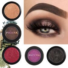 PHOERA Compact Eyeshadow Glitter Shimmer Metallic Palette Pigment Eye Shadow UK