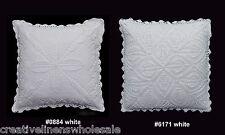"Handmade Cotton Crochet Lace Pillow Cushion Cover 16x16"" Square WHITE,Wedding"