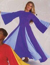 NWT PRAISE DRESS LITURGICAL DANCE  Plum-Periwinkle PRAISEWEAR Ladies/Girls 85153