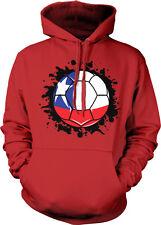 Chile Flag Soccer Ball Futbol La Roja Team Rebublica Colors CL Hoodie Sweatshirt
