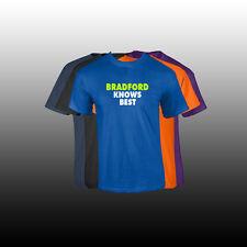 "BRADFORD First Name Men's T Shirt Custom Name ""KNOWS BEST"" Shirt 5 COLORS"