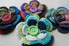 Mano Crochet Flor corsage/brooch Debbie Bliss Rialto botón Boda Ojal