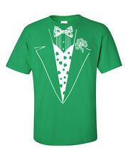 Tuxedo Tux St Patrick's Day Irish Shamrock Pat's Patty Party Men's Tee Shirt 768