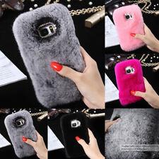 For Samsung Galaxy S9 S9+ Plus Faux Fur Pom Pom Shockproof Flyffy TPU Cover Case