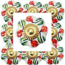 Pomos para Muebles Set 6-8-10 piezas manijas de Blanco coloreado Cerámica