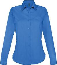 Chemise femme manches longues light royal blue Kariban - K549