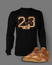 Street Wear T Shirt to Match AIR JORDAN 4 PREMIUM Ginger Shoe Black Graphic Tee