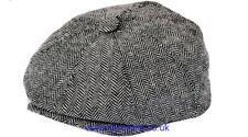 Venta Hombres Sombrero 8 Panel Niño Panadero Chico sombrero de papel Herringbone cap por G&H sombreros Gris