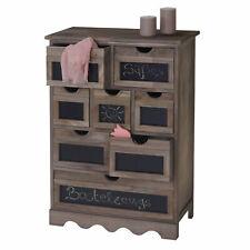 Serie Vintage credenza cassettiera Ermelo con lavagna legno paulonia P