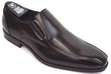 Men's STACY ADAMS Dress Shoes Bike Toe Slip On Black Leather FAIRCHILD 25104