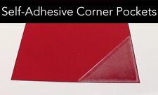 Triangolo Auto Adesivo in PVC angolo tasche chiaro trasparente. Proprio Peel & Stick