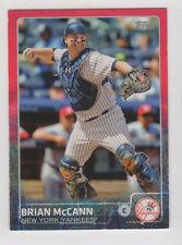 2015 Topps red 3/5 black 6/10 serial MINI cards Brian McCann 17 New York Yankees