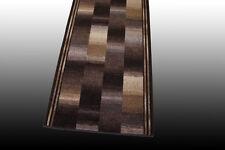 Corredor AW Ikat velur FB 49 Marrón 80cm ancho (100-395cm según Medida) corteza