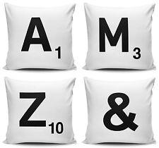Alphabet Letter Scrabble Cushion Covers - 40cm x 40cm