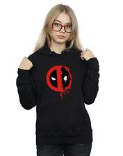Marvel Women's Deadpool Split Splat Logo Hoodie
