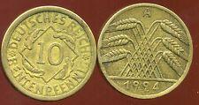 ALLEMAGNE 10  rentenpfennig  1924 A  ( bis )