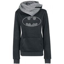 New Women LOGO Batman Print Hoodie Ladies Hooded Jumper Sweatshirt Tracksuit Top