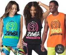 ZUMBA LET'S TALK MORE DANCE TANK TOP-XS/S, M/L, XL/XXL - BLACK, ORANGE, BLUE- BN